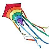 CIM Kinder-Drachen - Rainbow Eddy RED - Einleiner-Flugdrachen für Kinder ab 3 Jahren -...