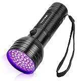 YOUTHINK UV Taschenlampe Schwarzlicht 51 LED 395nm Handlampe Mini Ultraviolett Haustiere...