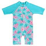 HUANQIUE Badebekleidung für Kinder Sonnenschutzkleidung Strandkleidung Schwimmübung 2A