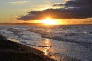 Sonnenuntergang an der dänischen Nordsee